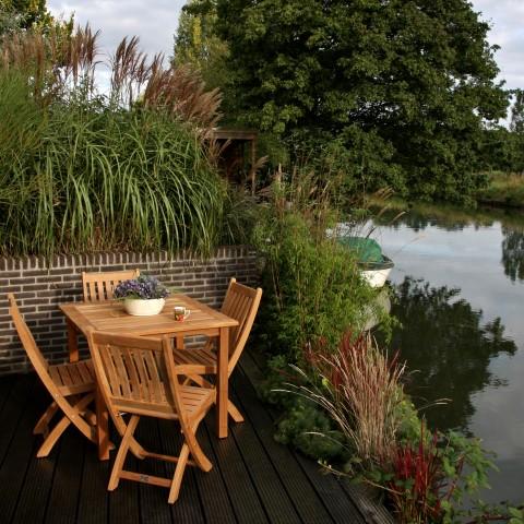 Victoria folding chair webshop johan spijker for Teakhouten tuinmeubelen
